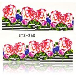 STZ 260 Flowers design Vodové nálepky - Flowers