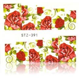 STZ 391 Flowers design Vodové nálepky - Flowers