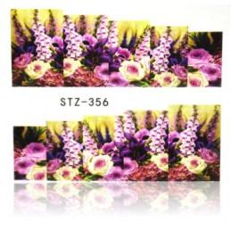 STZ 356 Flowers design Vodové nálepky - Flowers