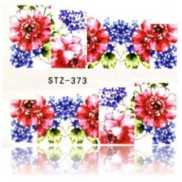 STZ 373 Flowers design Vodové nálepky - Flowers