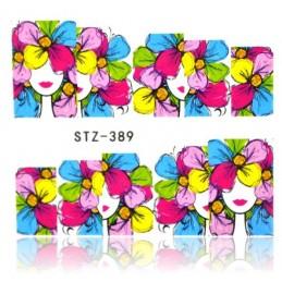 STZ 389 Flowers design Vodové nálepky - Flowers