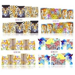 Sada nálepiek na nechty Safari 4ks Jungle nálepky