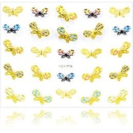 NR.4 Nálepky na nechty Motýle