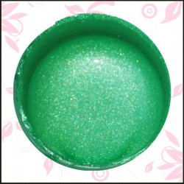 Vodová farba glitrová zelená č.92