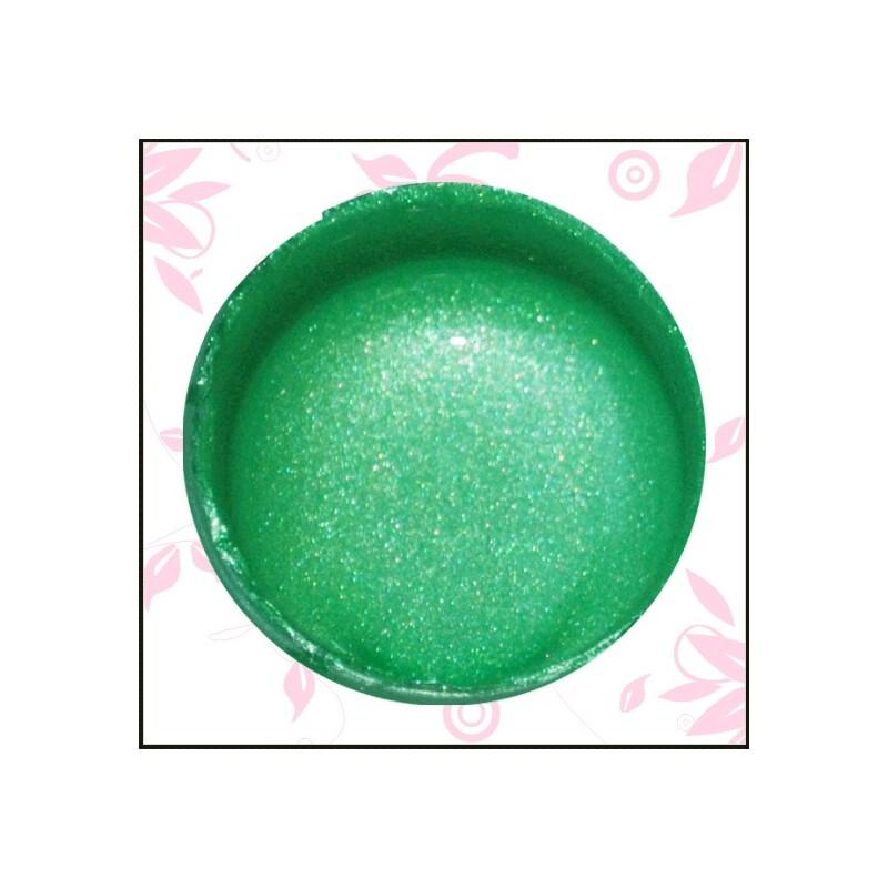 Vodová farba glitrová zelená