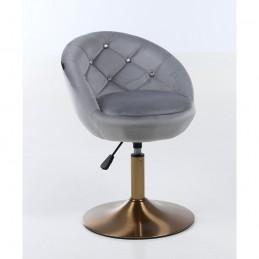 Kreslo Caramela Velur Gold Silver Stoličky, lavičky do čakárne