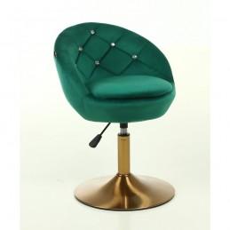 Kreslo Caramela Velur Gold Green Stoličky, lavičky do čakárne