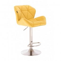 Barová stolička Detail Velur Yellow Kategórie