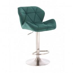 Barová stolička Detail Gold Velur Green