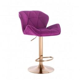 Barová stolička Detail Gold Velur Fuksia Barové stoličky
