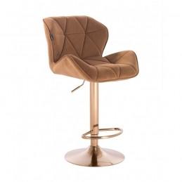 Barová stolička Detail Gold Velur Med Barové stoličky