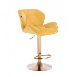 Barová stolička Detail Gold Velur Yellow Barové stoličky