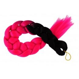Kanekalon Čierna - Ružova neon