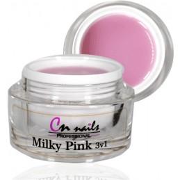 Milky Pink stavebný uv/led gél 3v1