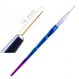 14 mm Štetec Vlások - Rainbow Štetce na zdobenie