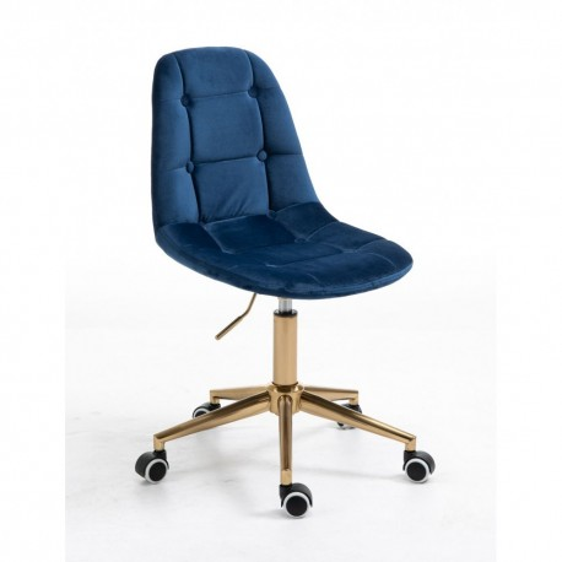 Kozmetická stolička Laura Velur Čierne more