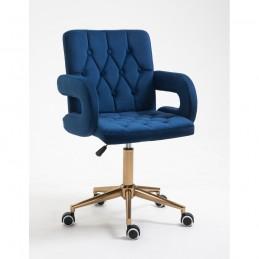 Kozmetická stolička Jasmina Velur Čierne More Kreslá, stoličky