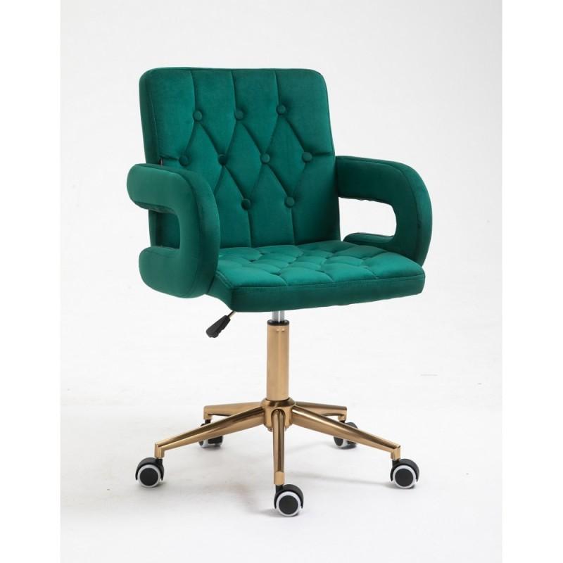 Kozmetická stolička Jasmina Velur Green Kreslá, stoličky