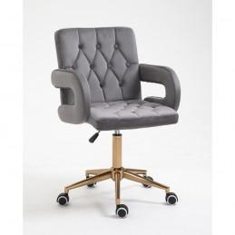 Kozmetická stolička Jasmina Velur Grafit Kreslá, stoličky