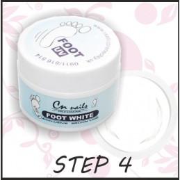 Uv gel Foot White 15ml - step 4 Uv gely na nohy