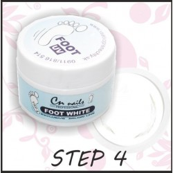 Uv gel Foot White 15ml - step 4 Uv gely na nohy