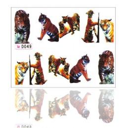 NR. 049 Nálepky na nechty Jungle Jungle nálepky