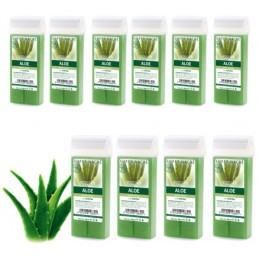 Depilačný vosk 10ks - Aloe vera Vosk na depiláciu VEĽKÝ ROLL-ON