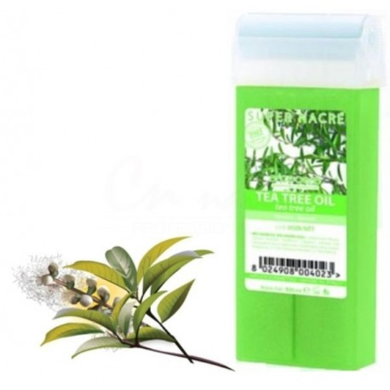 Depilačný vosk Tea tree 1ks Vosk na depiláciu VEĽKÝ ROLL-ON