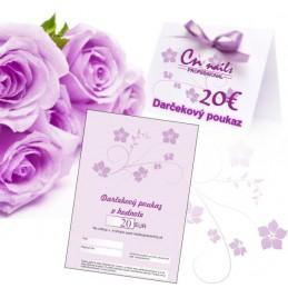 Darčekový poukaz na nákup v hodnote 20€