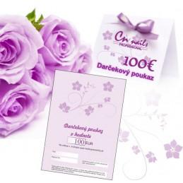 Darčekový poukaz na nákup v hodnote 100€