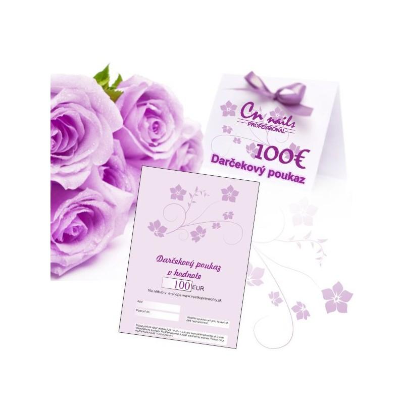 Darčekový poukaz na nákup v hodnote 100€ Darčekové poukazy