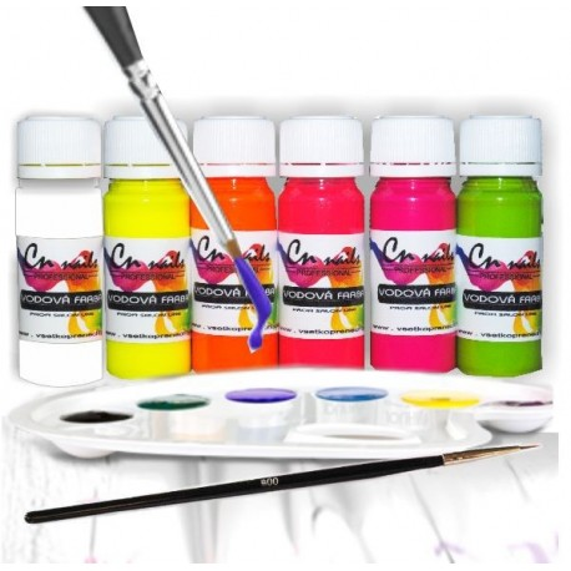 Sada na zdobenie vodovými farbami nr.1 Vodové farby