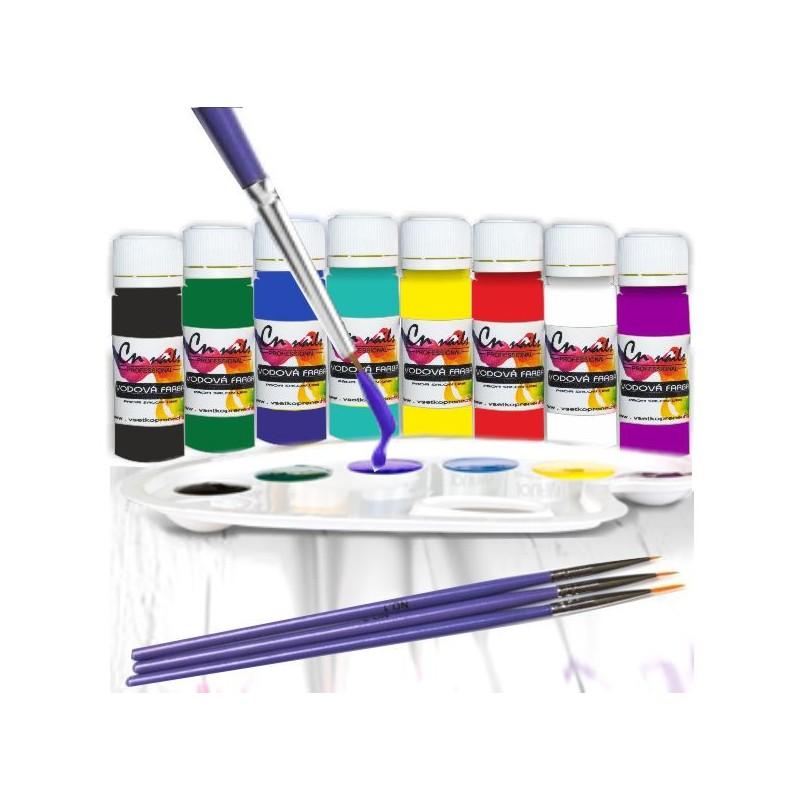 Sada na zdobenie vodovými farbami nr.2 Vodové farby