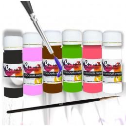 Sada na zdobenie vodovými farbami nr.4 Vodové farby