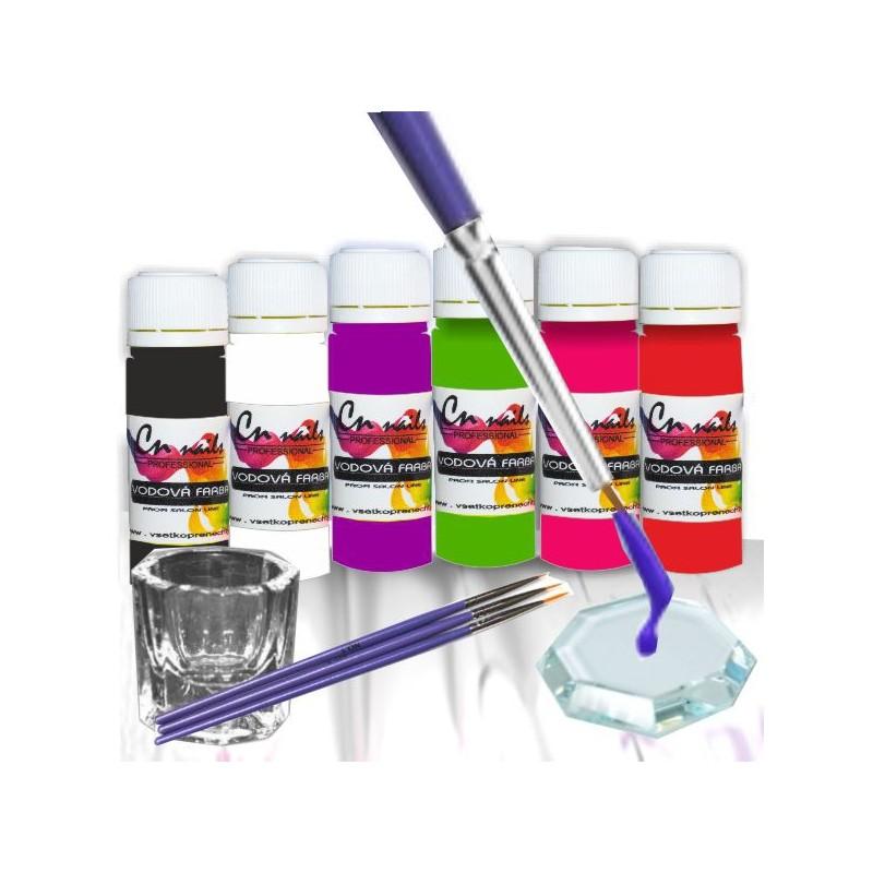 Sada na zdobenie vodovými farbami nr.3 Vodové farby