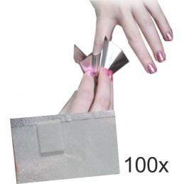 Fólia na odstránenie gel laku 100ks Odstraňovače, pomôcky