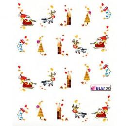 Vianočné nálepky na nechty Vianočné nálepky