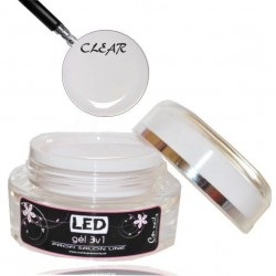 LED gél jednofázový clear 15ml