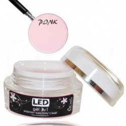 LED gél jednofázový pink 30ml