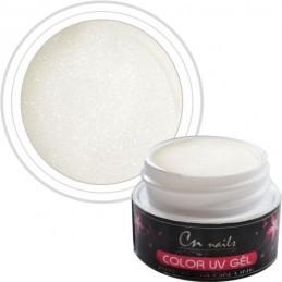 NR.113 Farebný gél Pearl White 5 ml CN nails PEARL, perleťové uv gély
