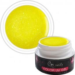 NR. 402 Farebný gél Yellow Star CN nails GLIMMER, glitrové UV GÉLY