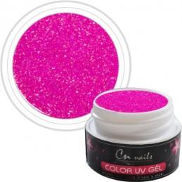 NR. 401 Farebný gél Pink Star CN nails GLIMMER, glitrové UV GÉLY