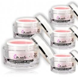 Sada UV gélov - Pink 4x 50ml CN nails Modelážne, stavebné gély
