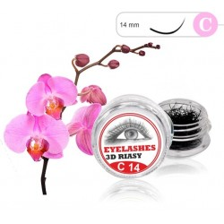 3D Lashes C 14mm 3D mihalnice Tip C