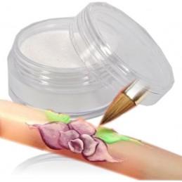 Akrylový prášok - bielý perleťový Farebný akryl