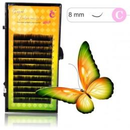 False mink 8mm 0,15 C 3D mihalnice PÁSKY