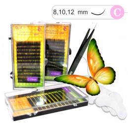 Sada na predĺženie mihalníc False mink 3D mihalnice PÁSKY