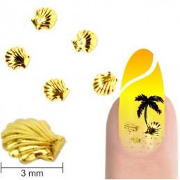 Kovové mušličky 3mm - zlaté Letné šperky