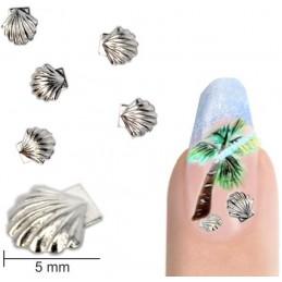 Kovové mušličky 5mm - strieborné Letné šperky