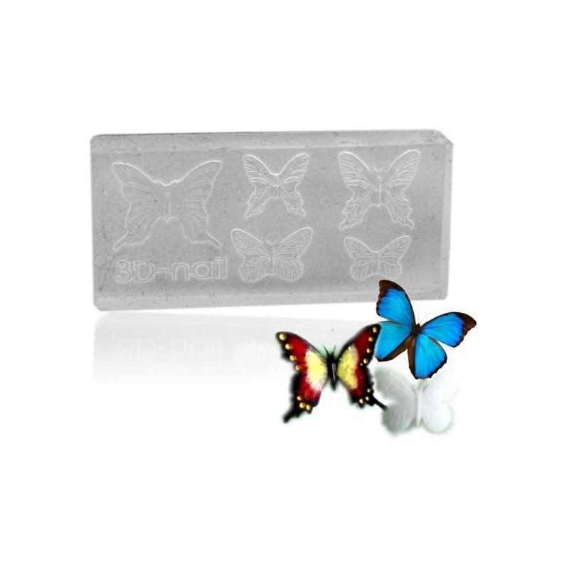 3D formy na nechty - motýľ nr.8 Formy na Nail Art akrylom